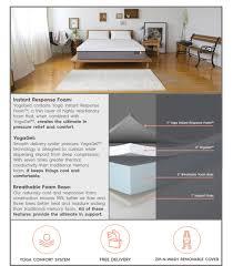 Buy Mattress Online India Amazon Amazon Com Yogabed Luxury Memory Foam Mattress Plus 2 Memory Foam
