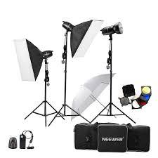 studio lighting equipment for portrait photography neewer 750w 250w x 3 professional photography studio flash strobe