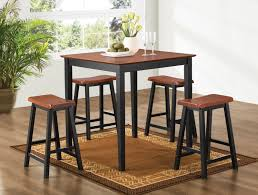 Industrial Bistro Table Furniture Kitchen Breakfast Bar Table And Stools Set Decor Black