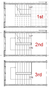 how to show stairs in a floor plan solved stairs below level how do i add a cut line autodesk