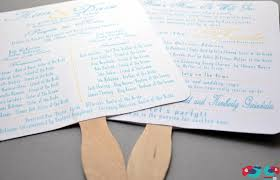 wedding programs fans a and cool summer wedding program tutorial the nerds