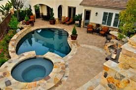 small backyard pool and tub home outdoor decoration