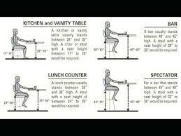 standard kitchen counter bar stool height standard bar stool
