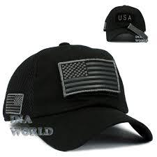 American Flag Regulations Usa American Flag Hat Detachable Patch Micro Mesh Military