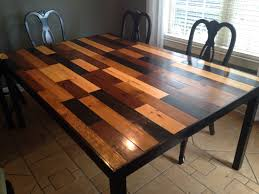 handmade kitchen table scandal inspired stained 1x4 in 4 colors