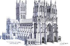 washington national cathedral floor plan national cathedral pen and pencil drawing by frederic kohli of the