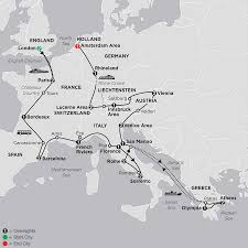 Italy And Greece Map by Greece Tours Cosmos Budget Tour Packages