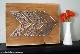 easy rustic arrow string art dwelling in happiness
