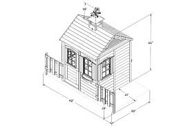 house measurements bayberry 8x4 wooden playhouse with fencing and flower pots