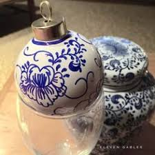 eleven gables how to make your own blue and white china ornaments
