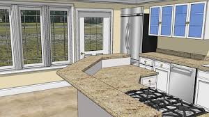 interior of a kitchen sketchup kitchen design