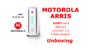 arris surfboard sb6183 lights arris motorola surfboard sb6183 docsis3 0 cable modem unboxing