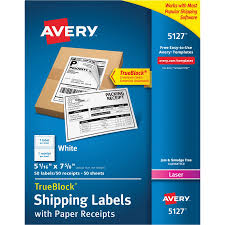 avery 5127 avery shipping label with paper receipt ave5127 ave