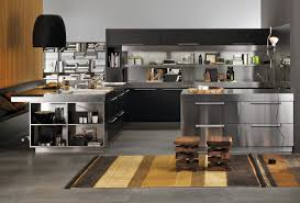 Simple Kitchen Interior Simple Kitchen With Aluminium Furniture Design For Small Space By
