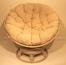 rattan wicker swivel rocking round papasan chair with brown
