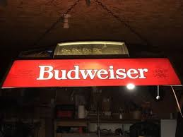vintage budweiser pool table light brewery antique price guide