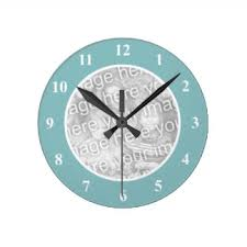 Personalized Clocks With Pictures Baby Photo Wall Clocks Zazzle