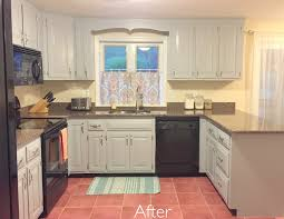 Finished Kitchen Cabinets Before U0026 After U2013 Painted Kitchen Cabinets