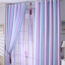 Lilac Nursery Curtains Discount Purple Baby Blue Lines Cool Curtains
