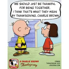 the meaning of thanksgiving care of marcie peanuts charliebrown