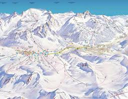 Piste Maps For Italian Ski by Piste Map Adamello Ski Italy 100 Km Piste