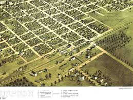 Chicago Map Wall Art by Bloomington Illinois In 1867 Bird U0027s Eye View Map Aerial