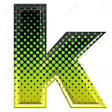 halftone 3d lower case letter k stock photo picture and royalty