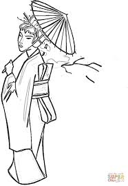 lady with umbrella coloring page free printable coloring pages