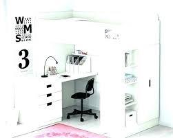 lit surélevé avec bureau bureau lit sureleve bureau lit mezzanine avec bureau fille