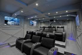 Industrial Home Cinema Design Ideas Renovations  Photos - Home cinema design