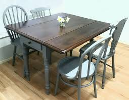Vintage Drop Leaf Table Chic Dining Room Tables With Leaves 70 Best Drop Leaf Inside