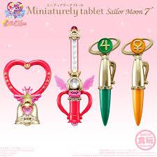 sailor moon miniaturely tablet set 7 candy toyssailor moon