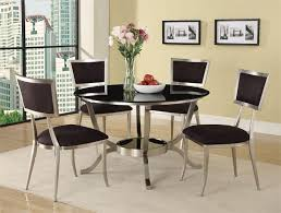 Best  Black Glass Dining Table Ideas On Pinterest Glass Top - Dining room sets round