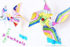 kids paper crafts op art pinwheels babble dabble do