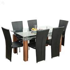 Wooden Dining Chairs Online India Royal Oak Barcelona Dining Table Set Black And Brown Amazon In