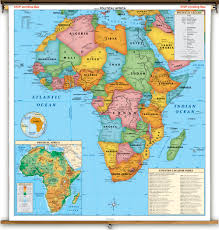 Mountain Ranges World Map by Africa Political Map
