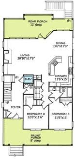 house plans narrow lot plan 44091td designed for water views scale bedrooms and kitchens