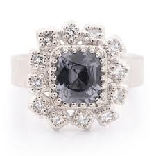 palladium jewellery 1 54ct grey blue spinel and palladium ring newman jewellery