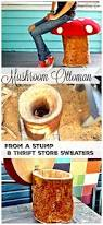 How To Build A Stump by How To Make An Ottoman That Looks Like A Mushroom From A Free Tree