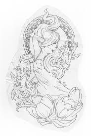 best 25 nouveau tattoo ideas on pinterest art nouveau tattoo