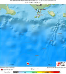 earthquake bali 2017 earthquake magnitude 4 5 south of bali indonesia 2017 april