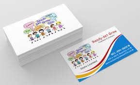 childcare business cards playful colorful business card design for smoot commercial by