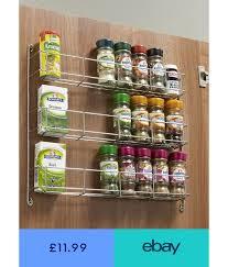 kitchen cupboard storage ideas ebay 3 tier spice rack to suit 300 500mm wide door stainless