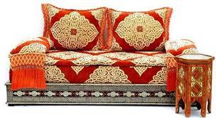 orange mekissa moroccan sofa moroccan decor pinterest