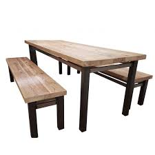 handcrafted reclaimed wood dining table