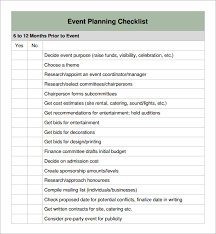 Event Planning Checklist Template Excel Sle Event Checklist Template Wedding Event Planner Contract