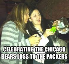 Funny Chicago Bears Memes - celebrating the chicago bears loss to the packers misc quickmeme
