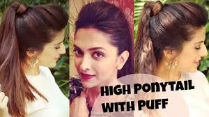 3 easy everyday high ponytail hairstyles with puff for