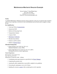 Cook Objective Resume Examples by Resumes For Maintenance Technicians Free Resume Example And
