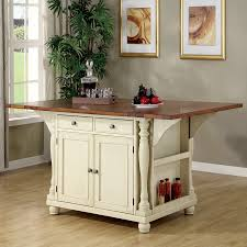 white kitchen island table shop coaster furniture white craftsman kitchen island at